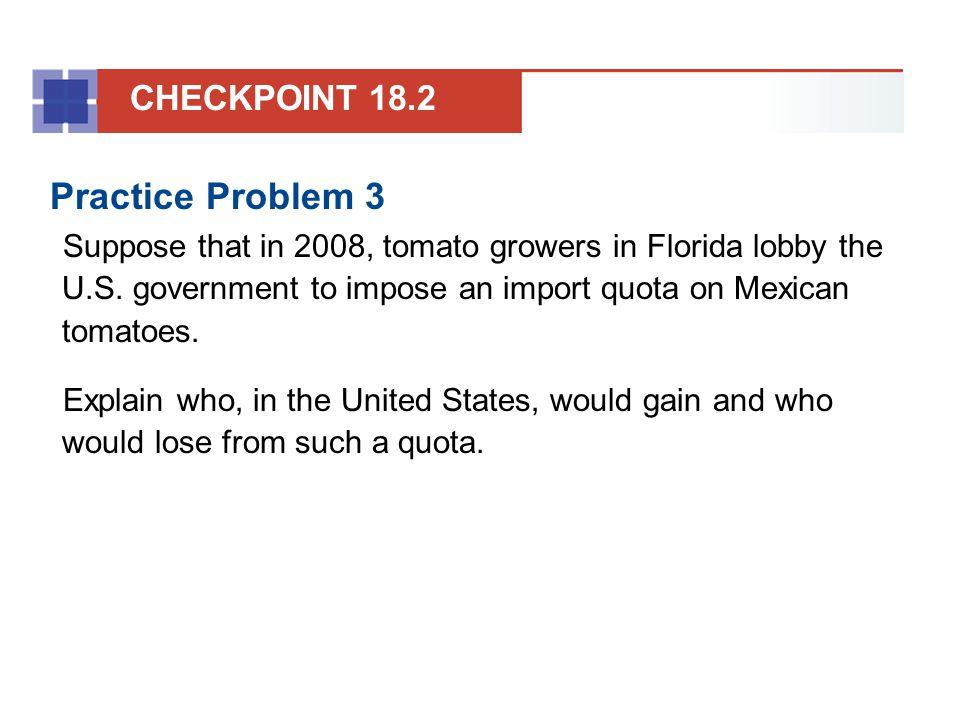 Practice Problem 3 CHECKPOINT 18.2