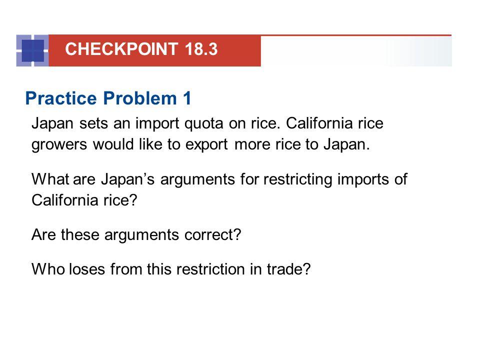 Practice Problem 1 CHECKPOINT 18.3