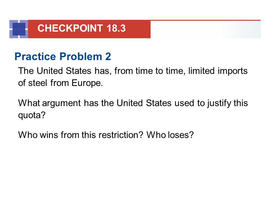 Practice Problem 2 CHECKPOINT 18.3