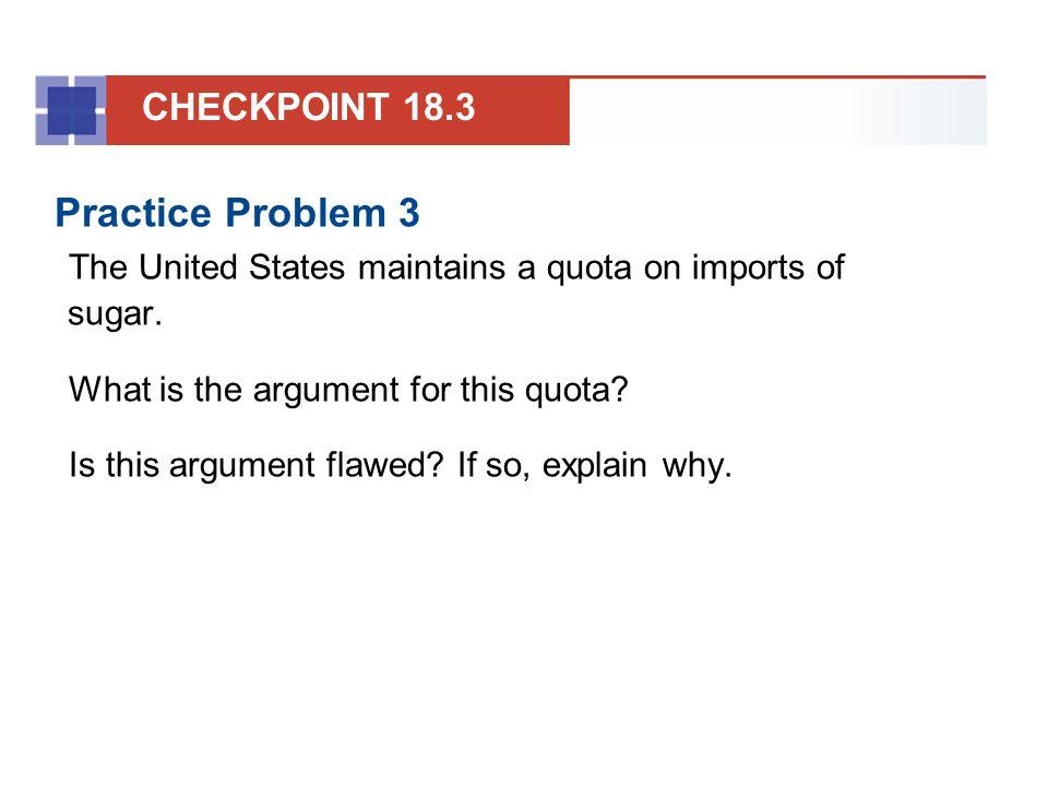Practice Problem 3 CHECKPOINT 18.3