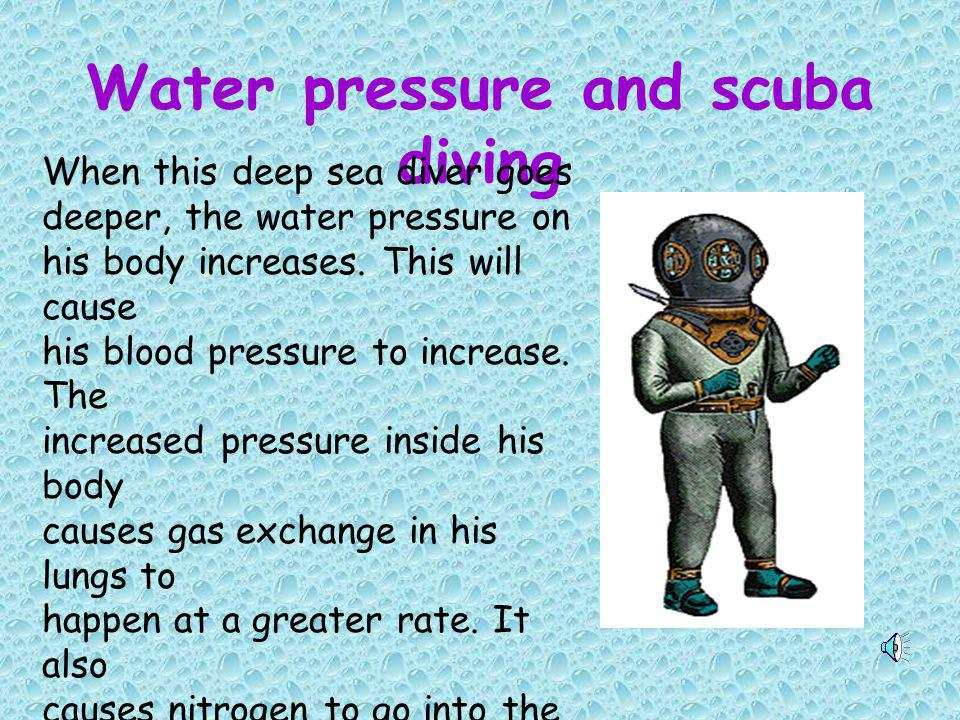 Water pressure and scuba diving