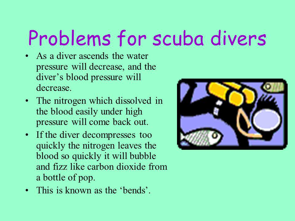 Problems for scuba divers
