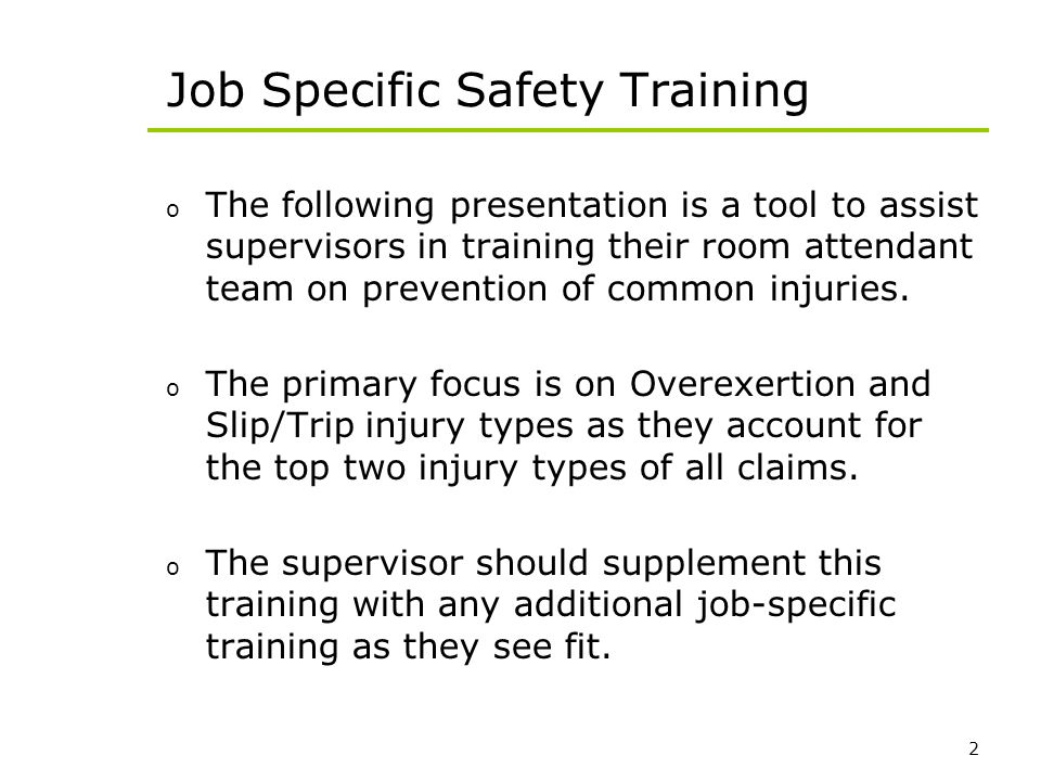 Job Specific Safety Training