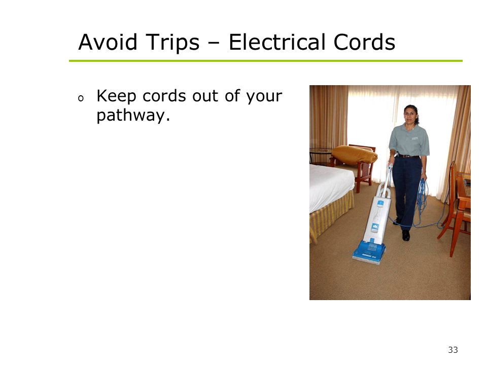 Avoid Trips – Electrical Cords