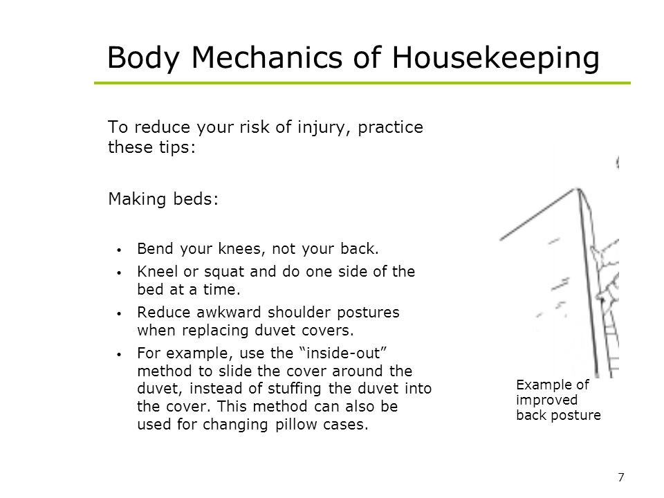 Body Mechanics of Housekeeping