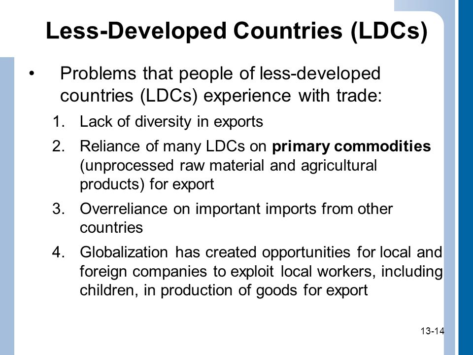 Less-Developed Countries (LDCs)