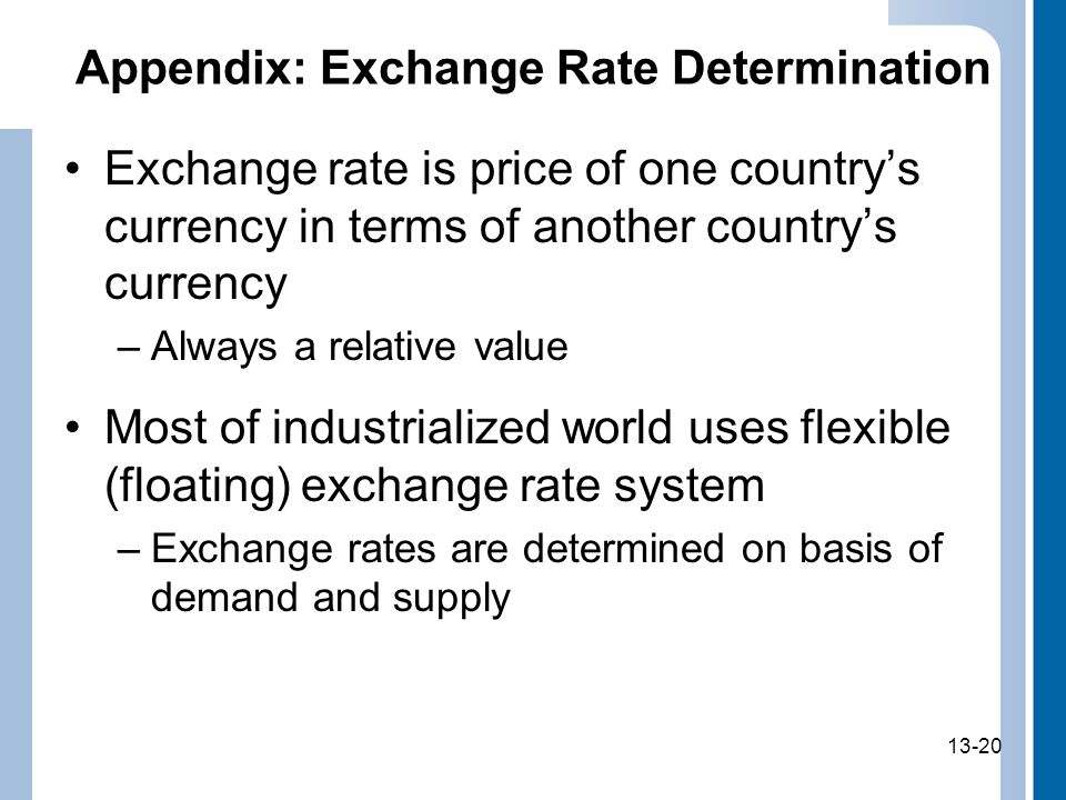 Appendix: Exchange Rate Determination