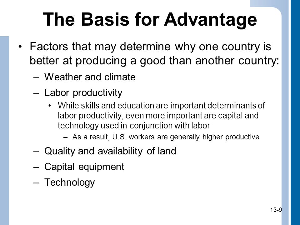 The Basis for Advantage