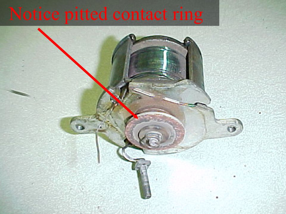 Notice pitted contact ring