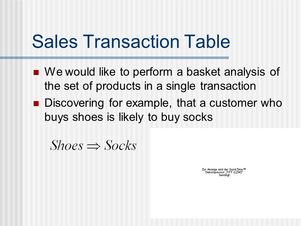 Sales Transaction Table