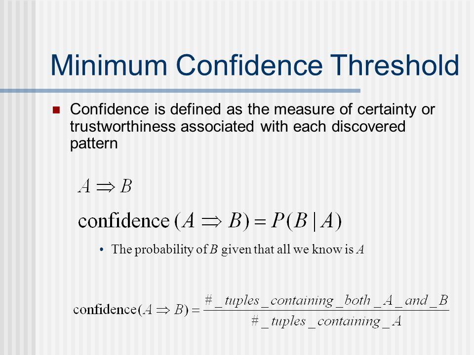 Minimum Confidence Threshold