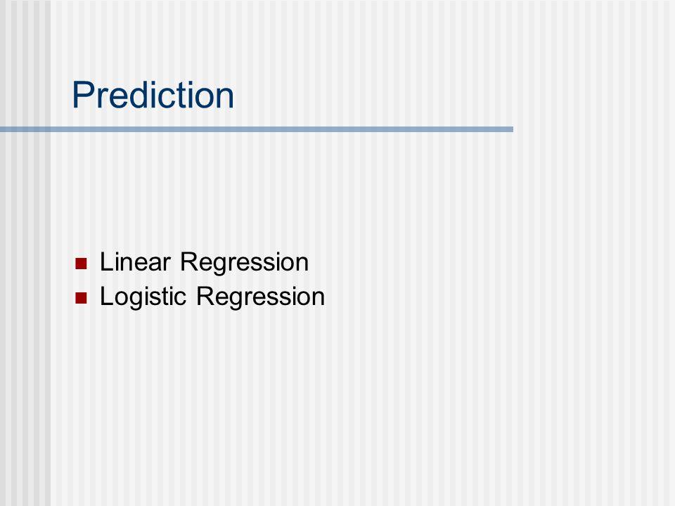 Prediction Linear Regression Logistic Regression