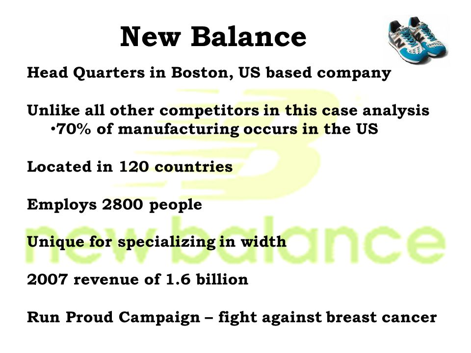 New Balance Head Quarters in Boston, US based company