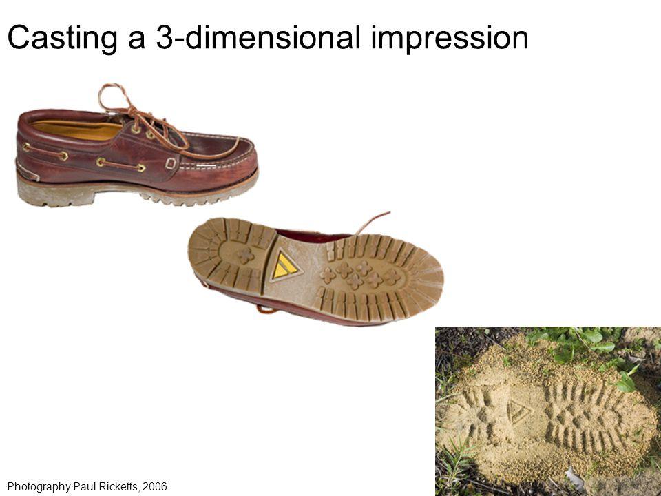 Casting a 3-dimensional impression