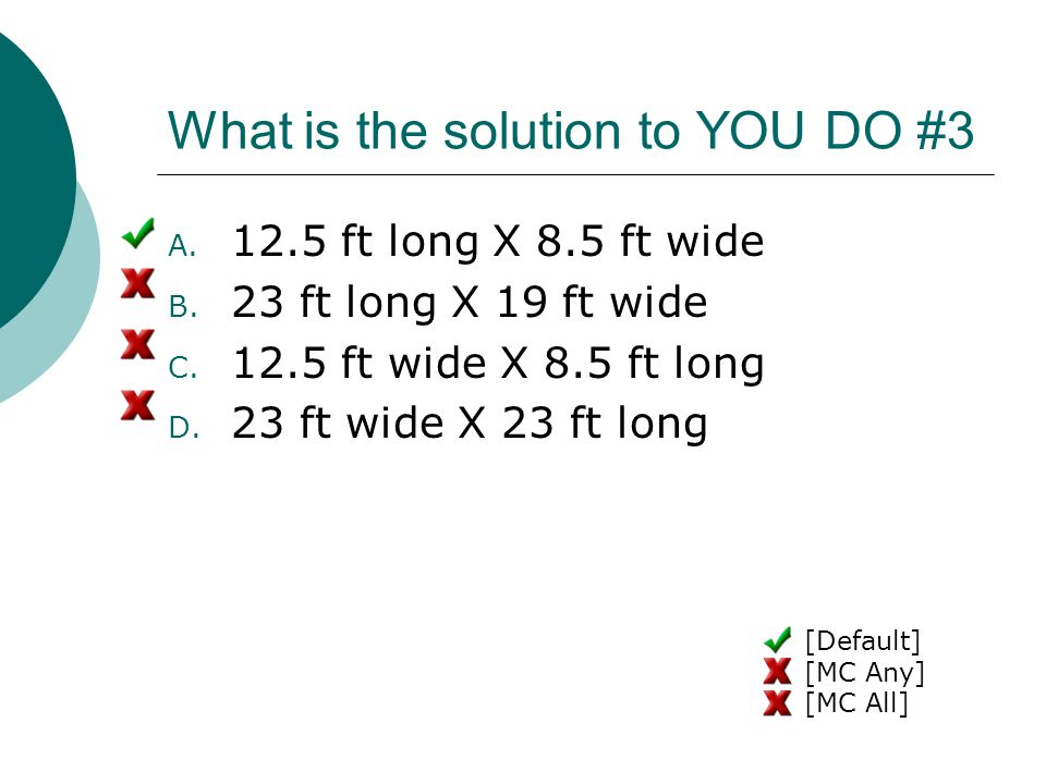 What is the solution to YOU DO #3