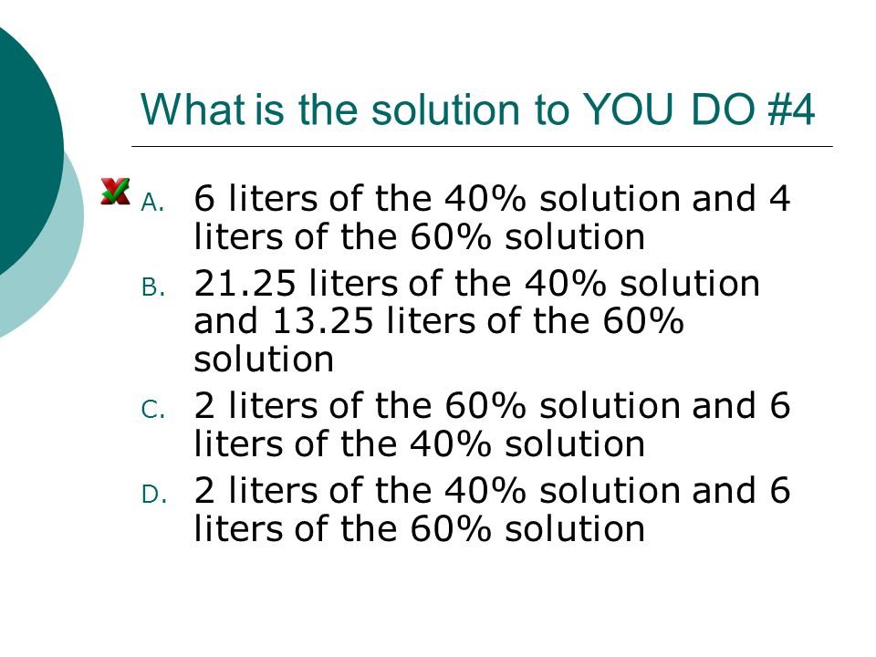 What is the solution to YOU DO #4