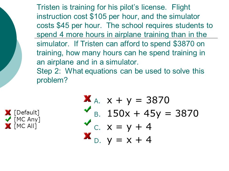 Tristen is training for his pilot's license