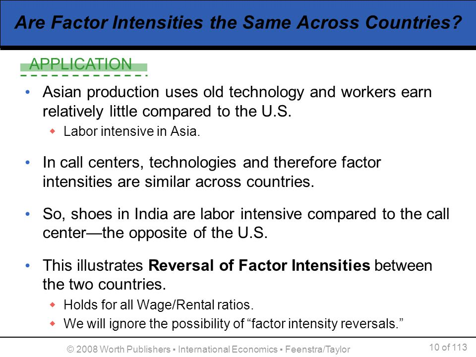 Are Factor Intensities the Same Across Countries