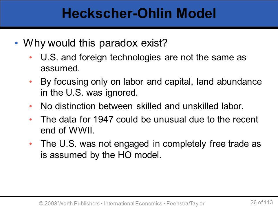 Heckscher-Ohlin Model