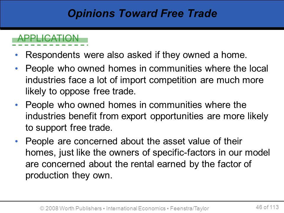 Opinions Toward Free Trade