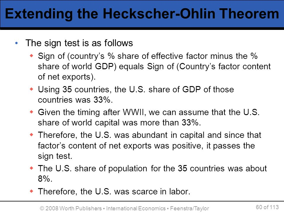 Extending the Heckscher-Ohlin Theorem