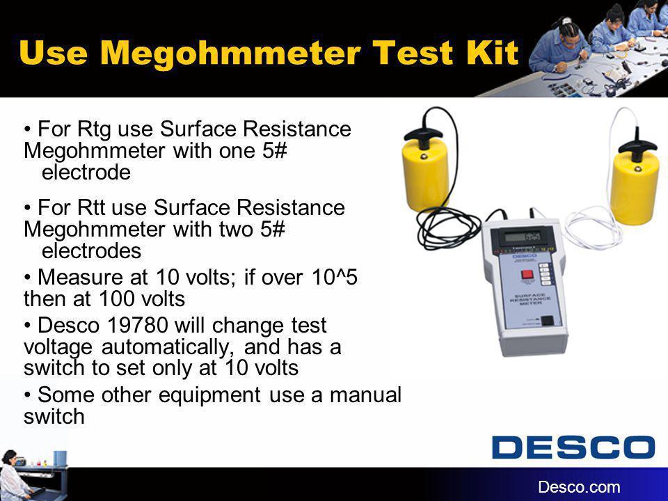 Use Megohmmeter Test Kit