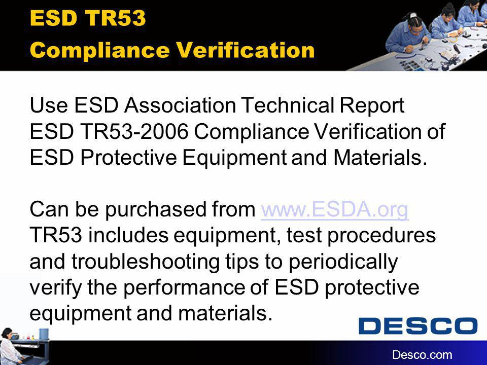 ESD TR53 Compliance Verification