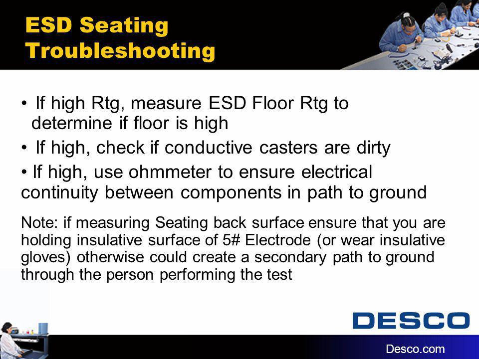 ESD Seating Troubleshooting