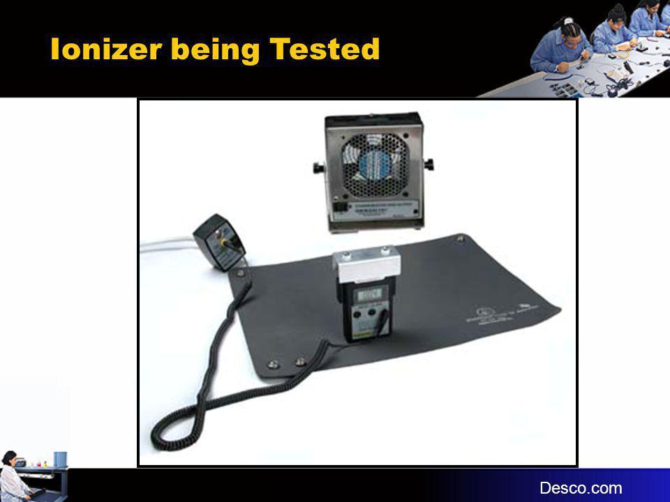 Ionizer being Tested Desco.com