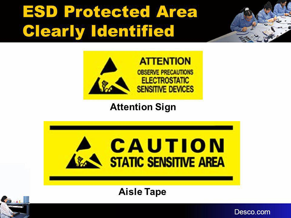 ESD Protected Area Clearly Identified