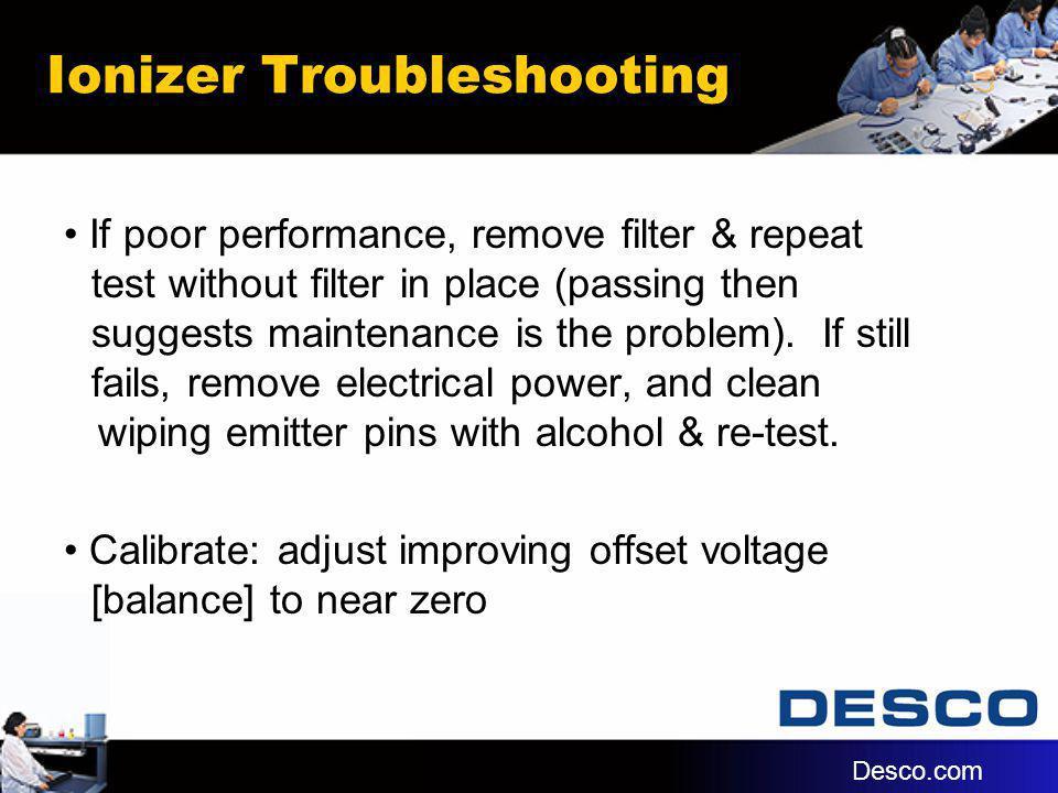 Ionizer Troubleshooting