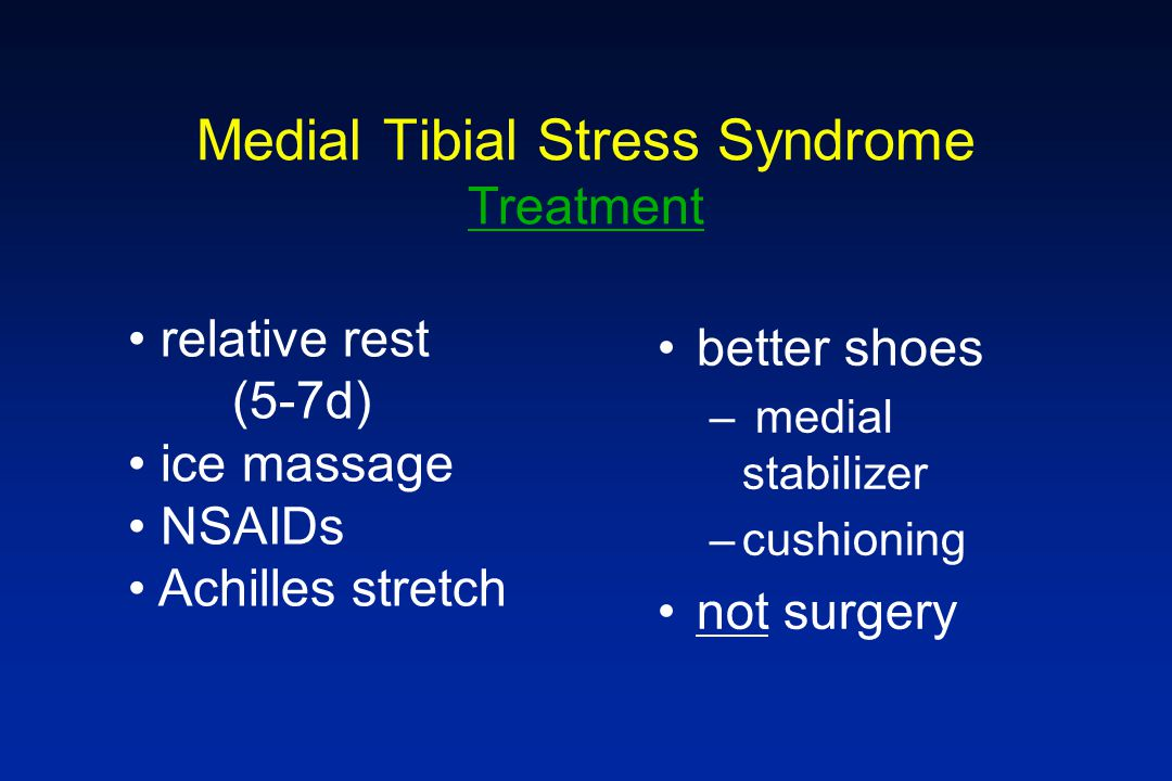 Medial Tibial Stress Syndrome Treatment