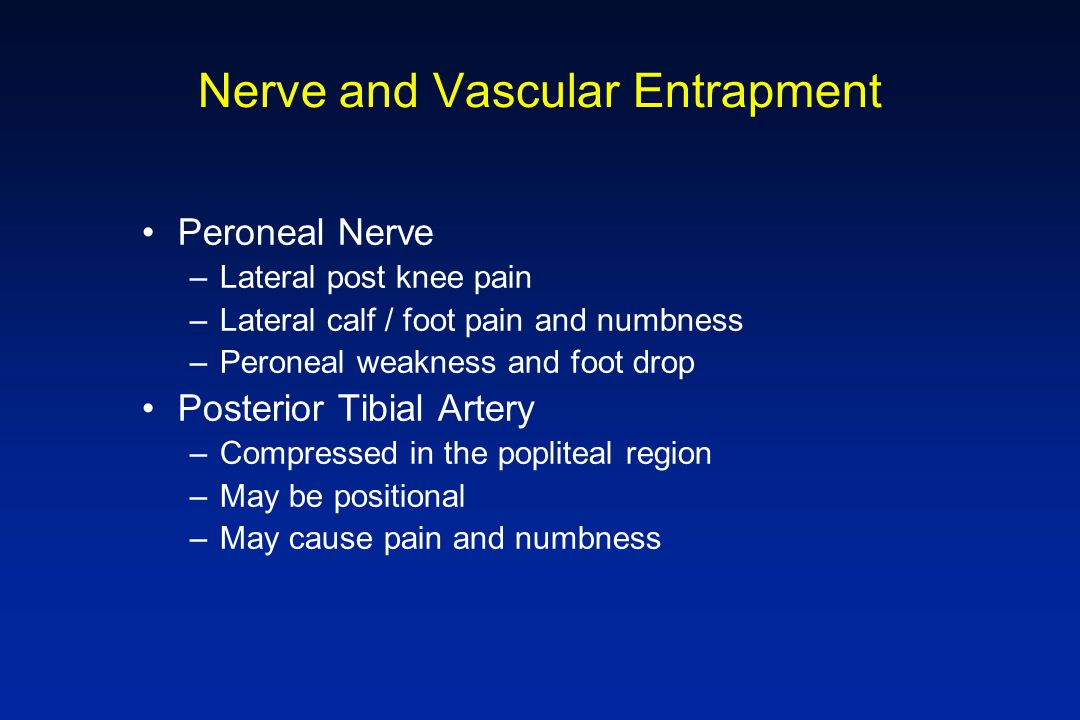 Nerve and Vascular Entrapment