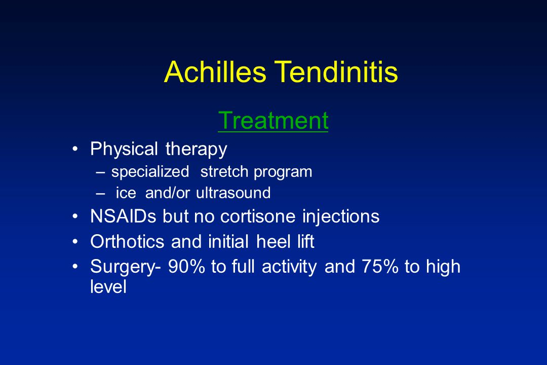 Achilles Tendinitis Treatment Physical therapy