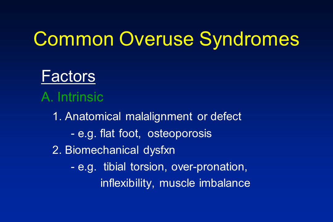 Common Overuse Syndromes