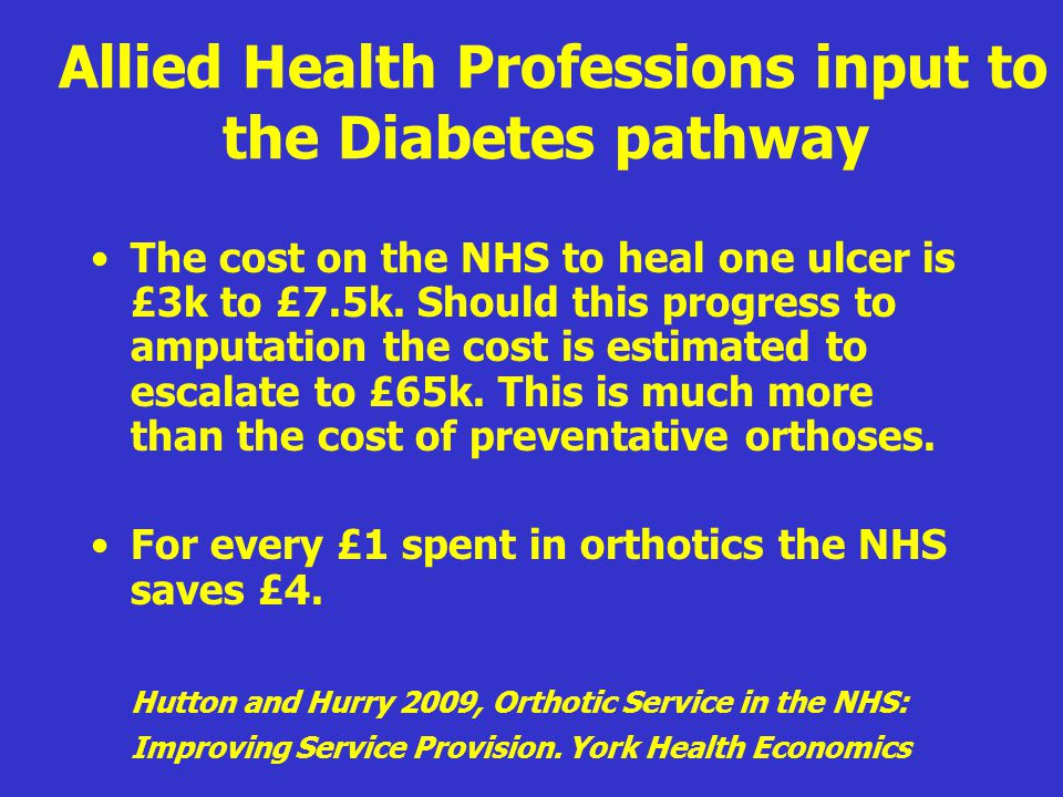 Allied Health Professions input to the Diabetes pathway