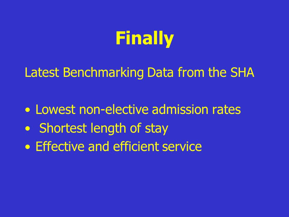 Finally Latest Benchmarking Data from the SHA