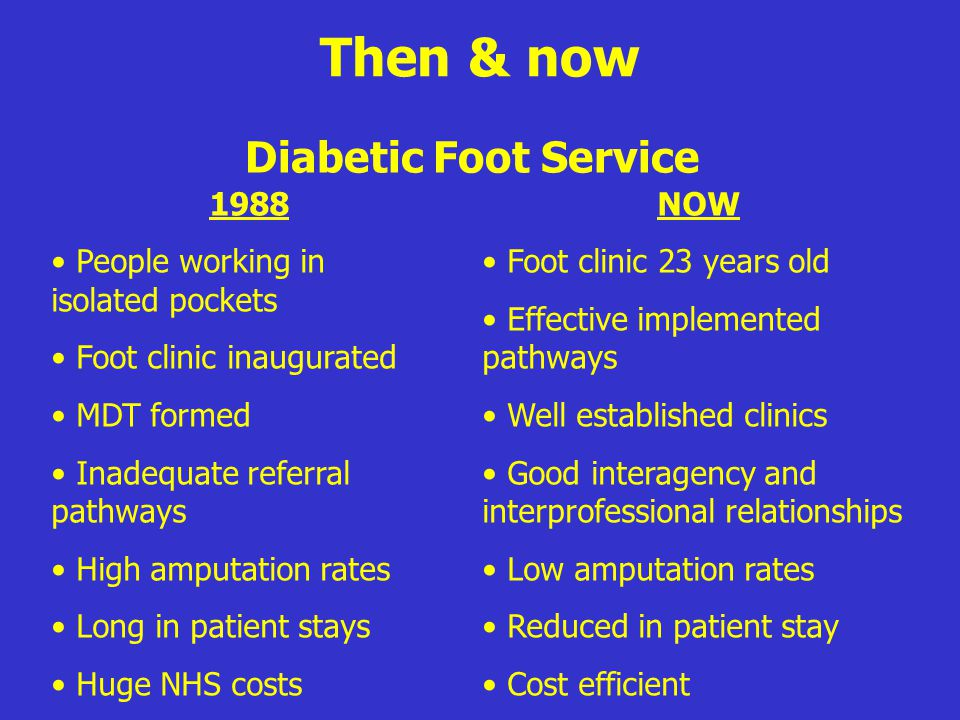 Then & now Diabetic Foot Service 1988