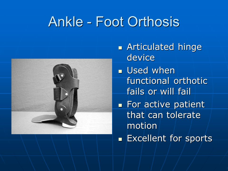 Ankle - Foot Orthosis Articulated hinge device