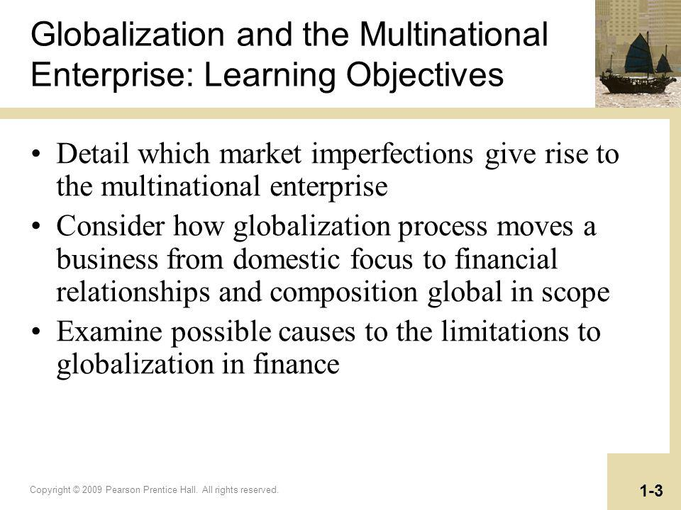 Globalization and the Multinational Enterprise: Learning Objectives