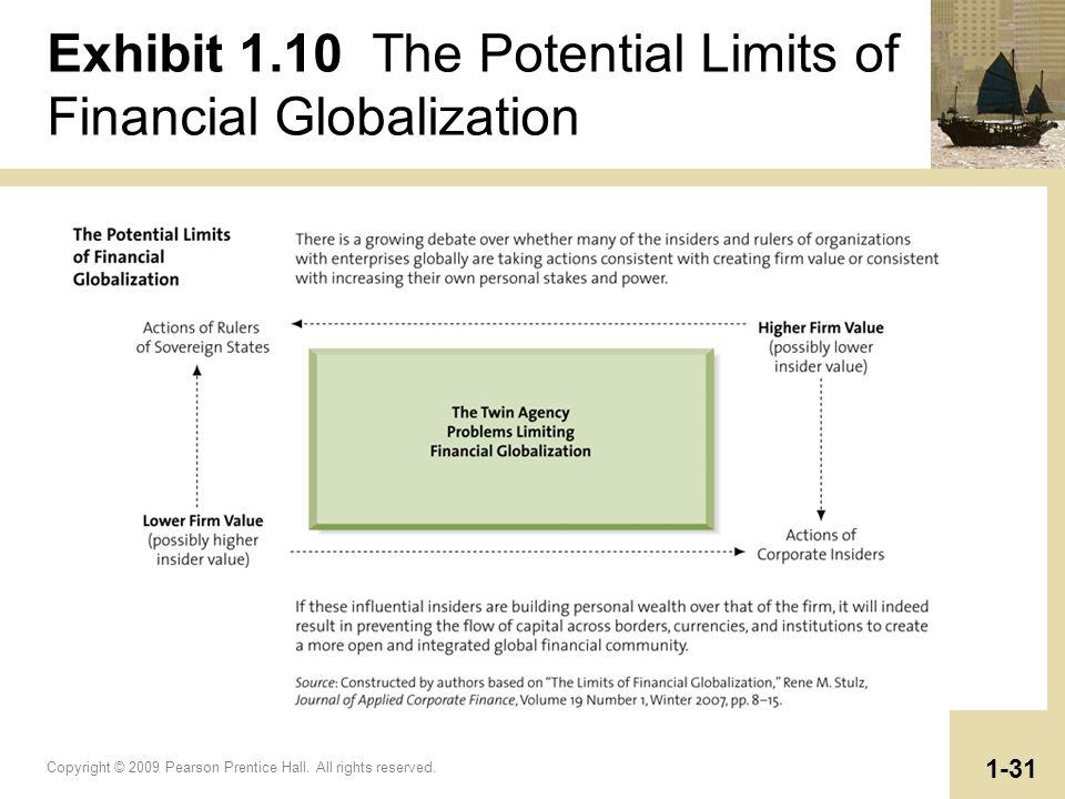 Exhibit 1.10 The Potential Limits of Financial Globalization