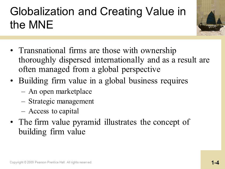 Globalization and Creating Value in the MNE