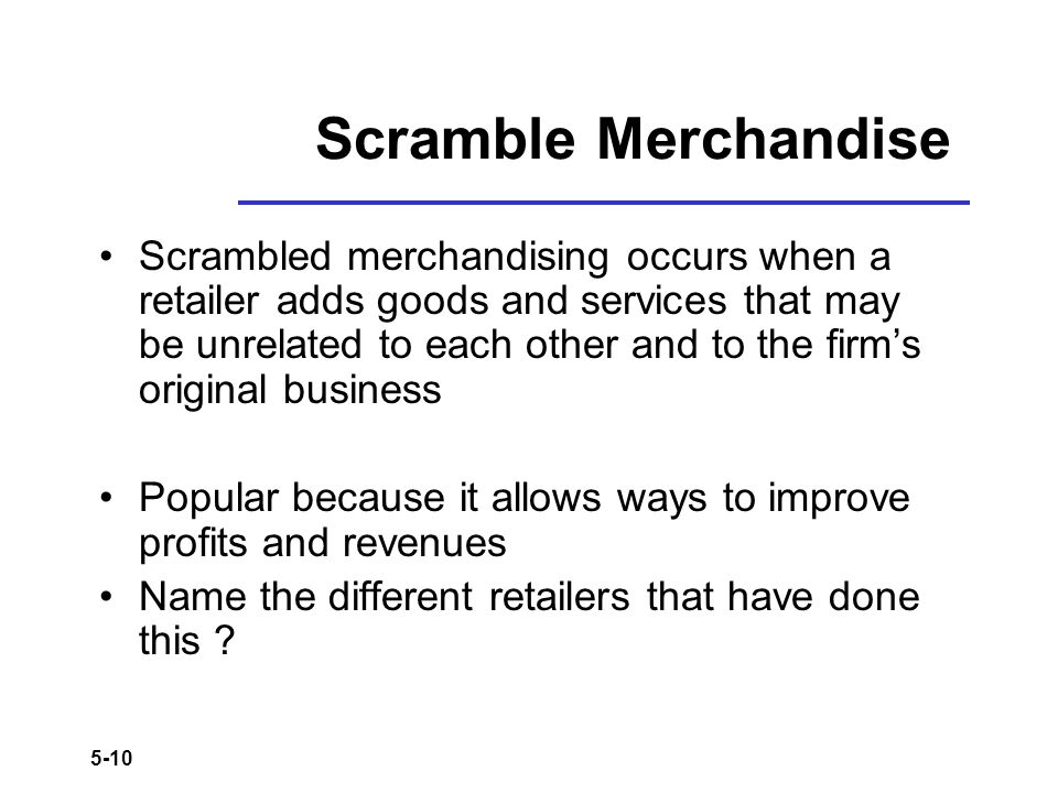 Scramble Merchandise