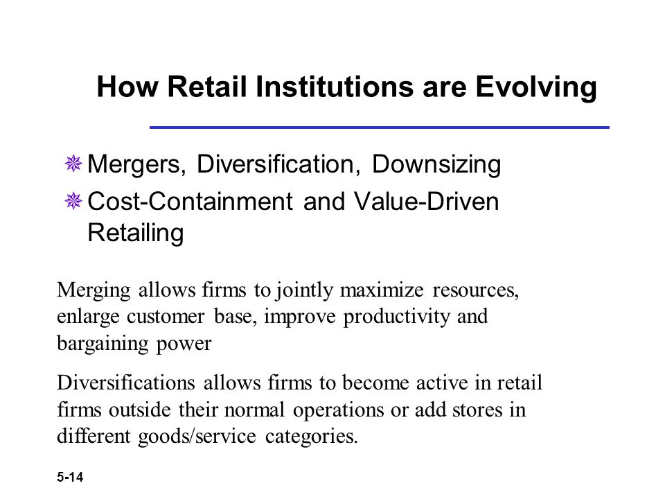 How Retail Institutions are Evolving