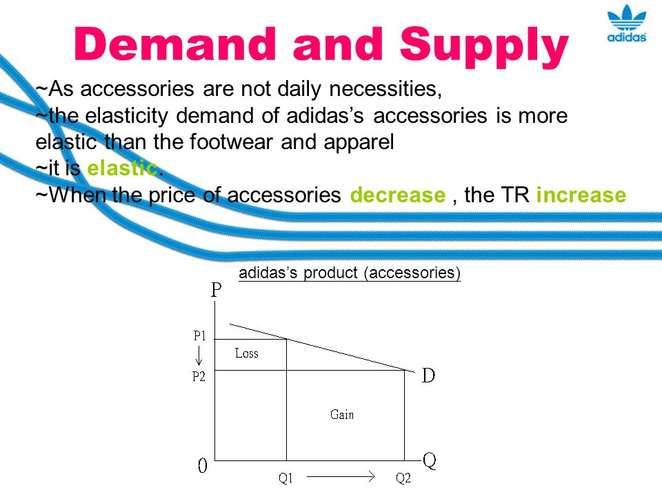 Demand and Supply ~As accessories are not daily necessities,