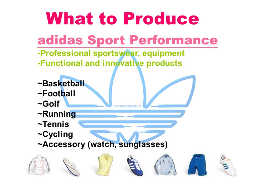 What to Produce adidas Sport Performance