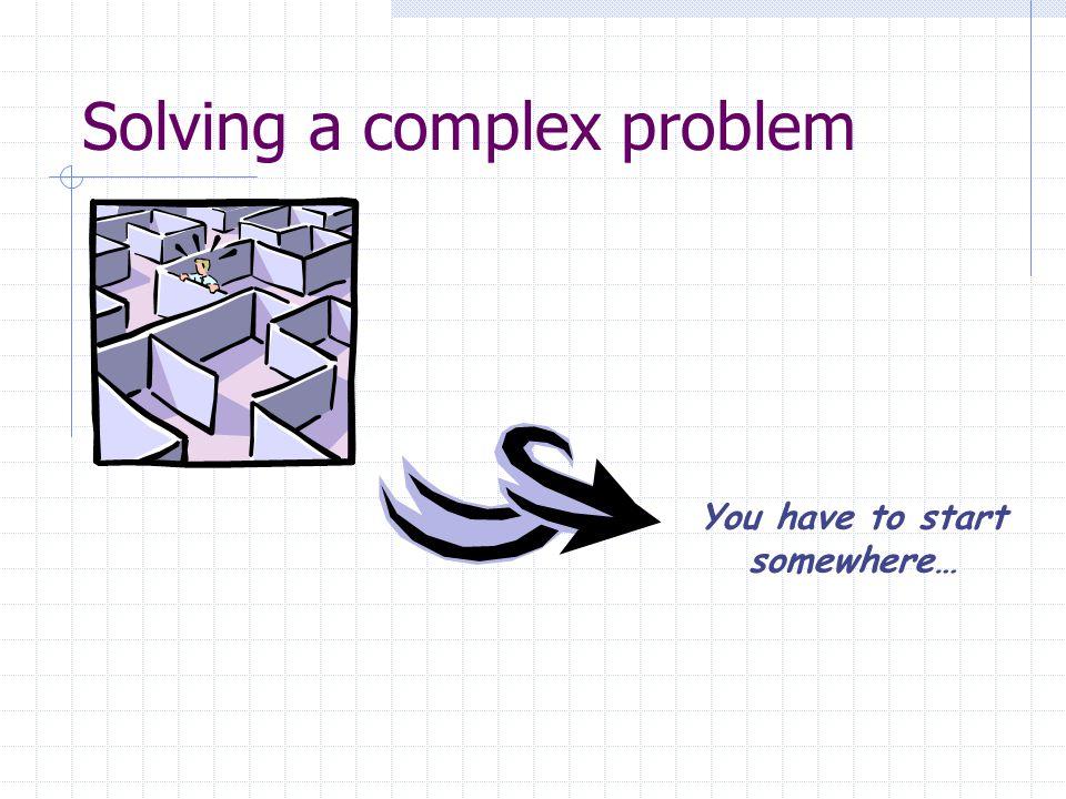 Solving a complex problem