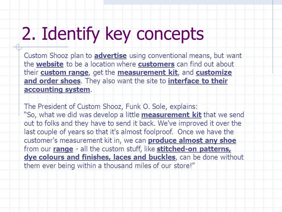 2. Identify key concepts