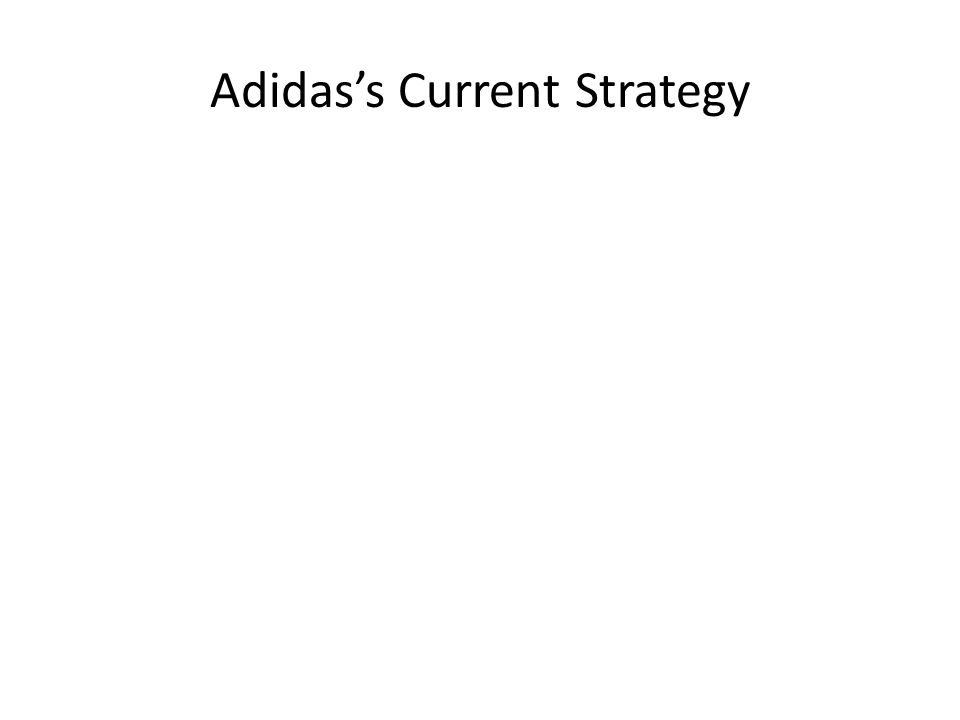 Adidas's Current Strategy
