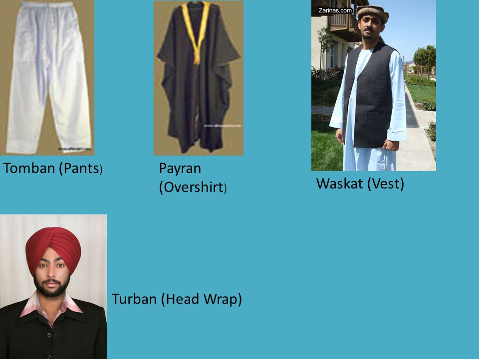Tomban (Pants) Payran (Overshirt) Waskat (Vest) Turban (Head Wrap)